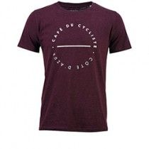 Café Du Cycliste Men's Cotton City T-Shirt Deep - Grape