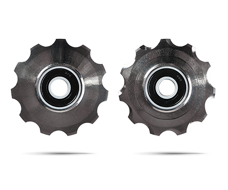 CeramicSpeed Pulley Wheels 3D Printed Hollow Ti Shimano 11s Coated